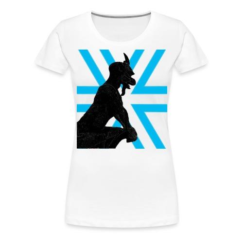 Gargoyle Silhouette - Women's Premium T-Shirt