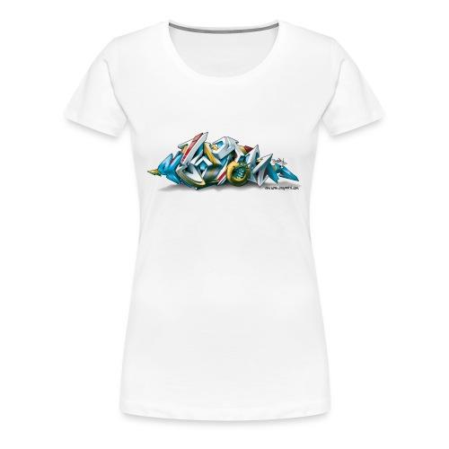 Phame Design for New York Graffiti - 3D Style - Women's Premium T-Shirt