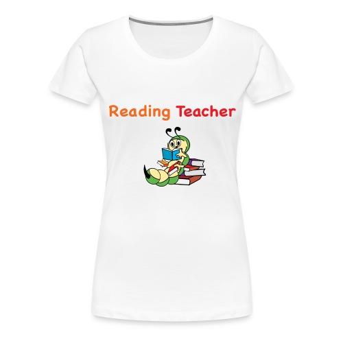 readingteacher png - Women's Premium T-Shirt