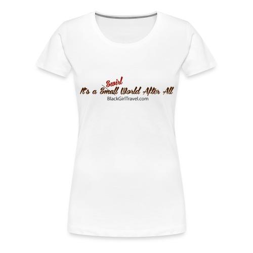 Plain Small World jpg - Women's Premium T-Shirt