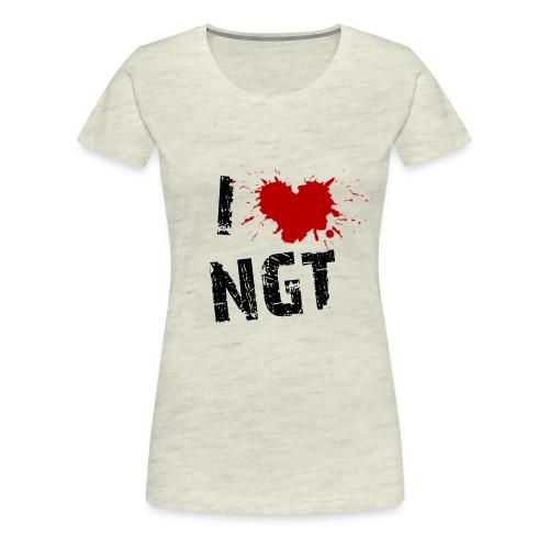 Womens Love NGT - Women's Premium T-Shirt