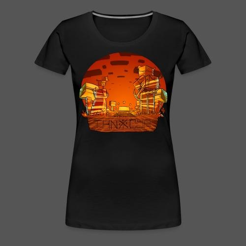 ThnxCya tshirt sunset design by Jonas Nacef png - Women's Premium T-Shirt