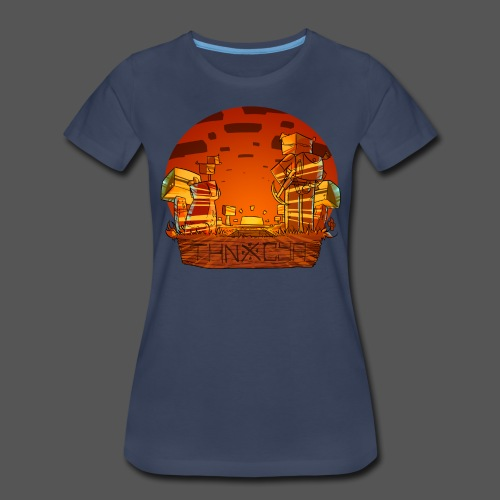 ThnxCya tshirt sunset design by Jonas Nacef png - Women's Premium T-Shirt