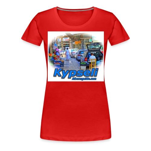 Kypseli market jpg - Women's Premium T-Shirt