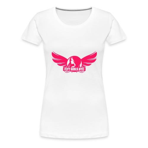 logofinalsolidpinklight png - Women's Premium T-Shirt