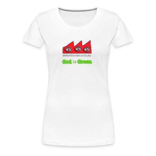 GodIsGreen onWhite - Women's Premium T-Shirt
