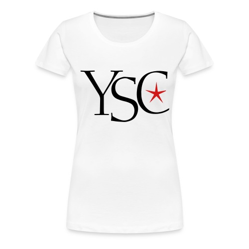 ysc initials red star - Women's Premium T-Shirt