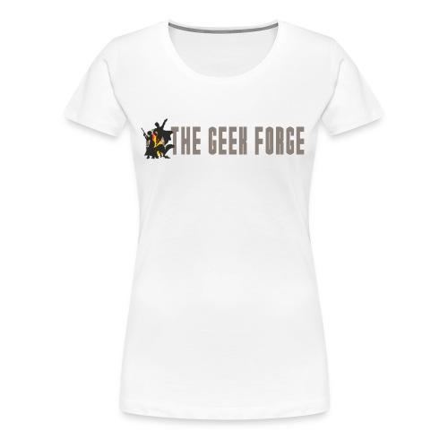 Geek_Forge_Logo3 long cop - Women's Premium T-Shirt