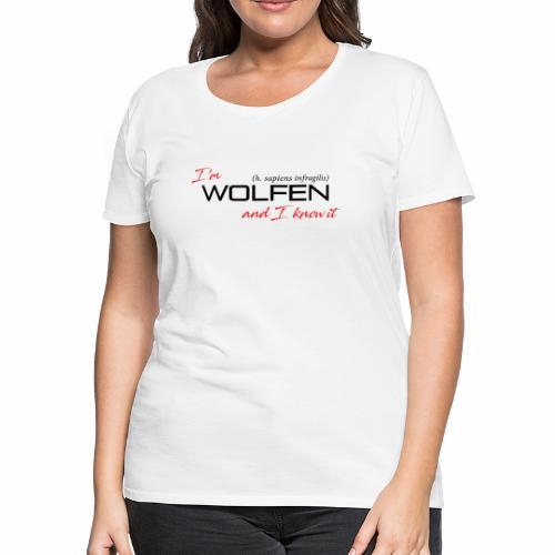 Front/Back: Wolfen Attitude on Light- Adapt or Die - Women's Premium T-Shirt