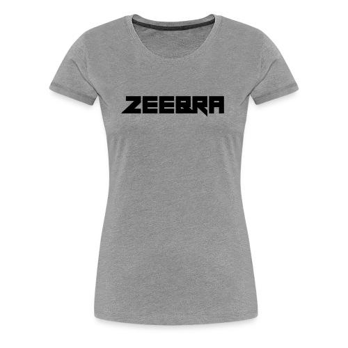 zeebra logo - Women's Premium T-Shirt
