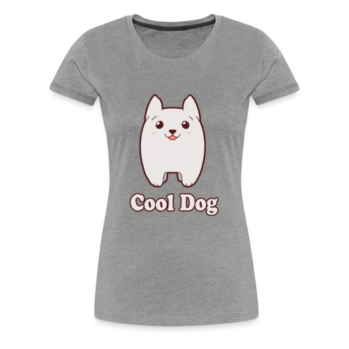 Cool Dog Fluffy Dog Logo - Women's Premium T-Shirt