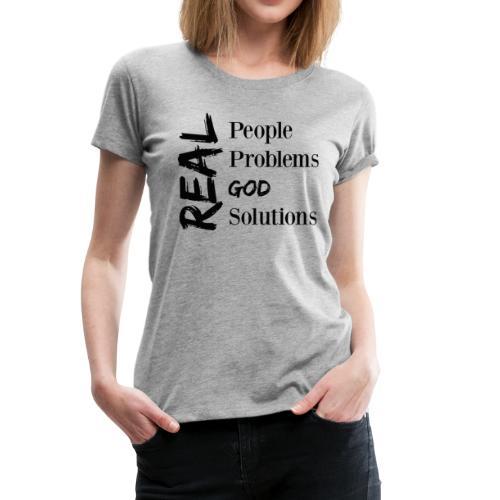 Real God (black logo) - Women's Premium T-Shirt