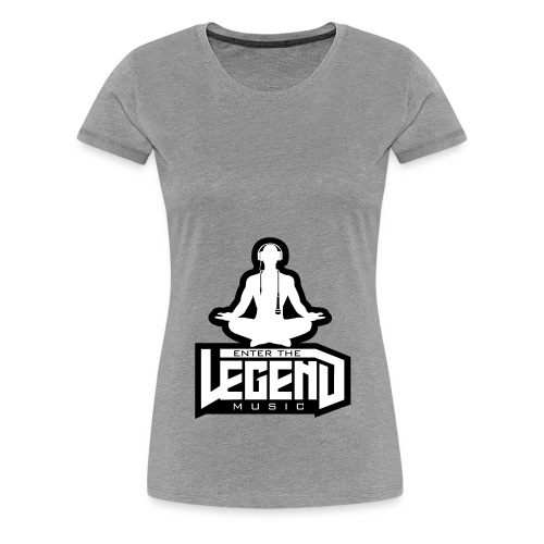 Enter The Legend Music B/W - Women's Premium T-Shirt