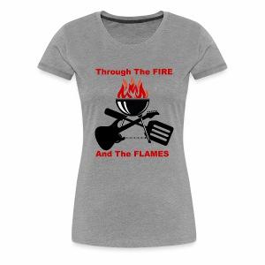 Fire and Flames BBQ - Women's Premium T-Shirt