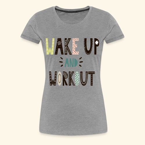 Gym Workout Design - Women's Premium T-Shirt