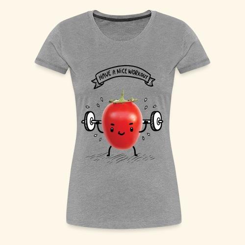 Tomato Man Gym - Women's Premium T-Shirt