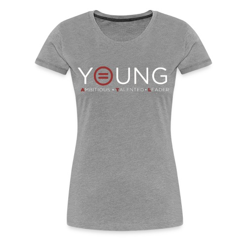 T logo White Text - Women's Premium T-Shirt