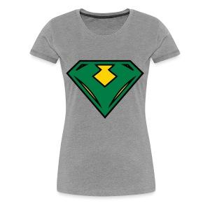Vegan superhero - Green - Women's Premium T-Shirt