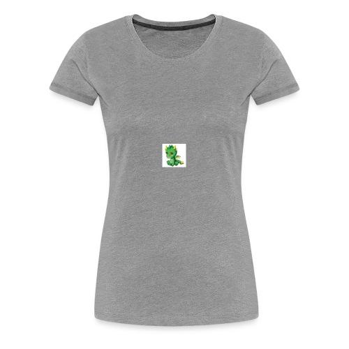 Sad Cartoon Dragon - Women's Premium T-Shirt