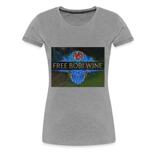 FREE BOBI WINE - Women's Premium T-Shirt