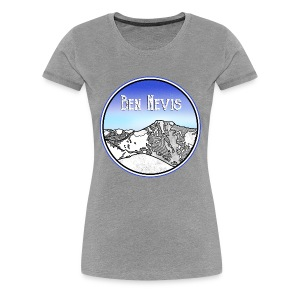 Ben Nevis Mountain - Women's Premium T-Shirt