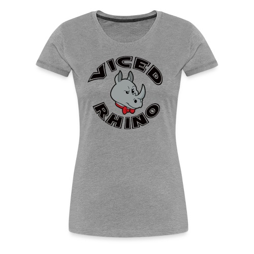 Viced Rhino Logo - Women's Premium T-Shirt