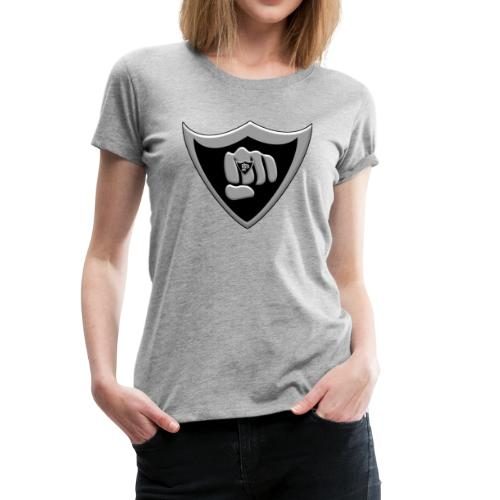 Silver and black logo - Women's Premium T-Shirt
