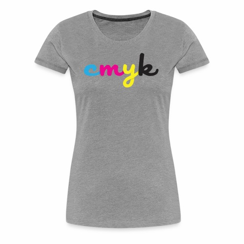 CMYK for Graphic Design Lovers - Women's Premium T-Shirt