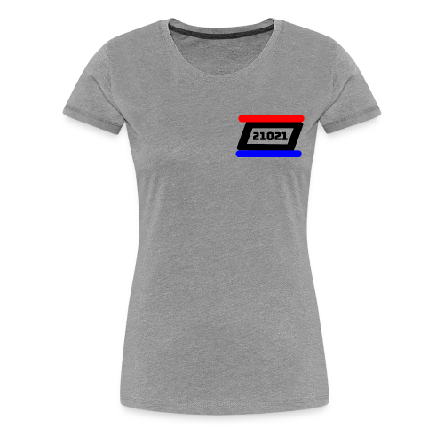21021 Black White Red - Women's Premium T-Shirt