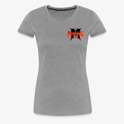Metatoxic over Logo - Women's Premium T-Shirt
