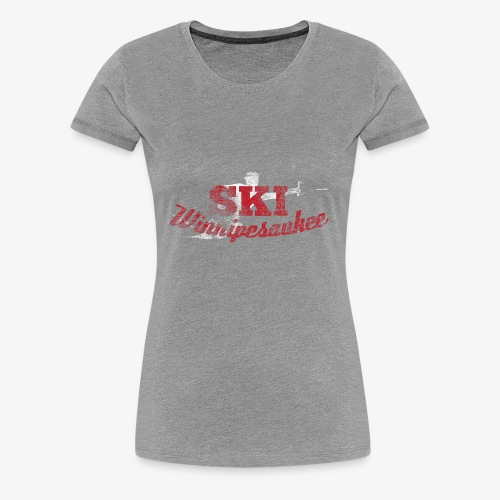Lake Winnipesaukee Water Skiing T-Shirt - Women's Premium T-Shirt