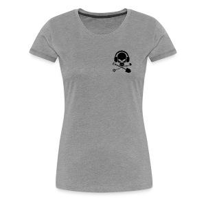 Silver Pirate Logo Inverted LARGE TRANS - Women's Premium T-Shirt