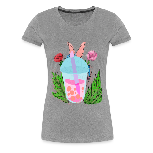 Floral bubble tea - Women's Premium T-Shirt