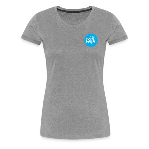 The Path Circle Logo In Blue - Women's Premium T-Shirt