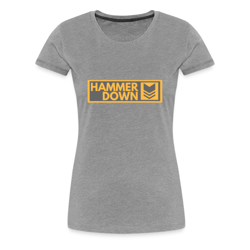 Hammer Down Logo (Large) - Women's Premium T-Shirt