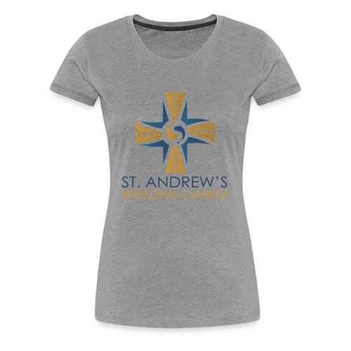 St. Andrew's logo on transparent background - Women's Premium T-Shirt