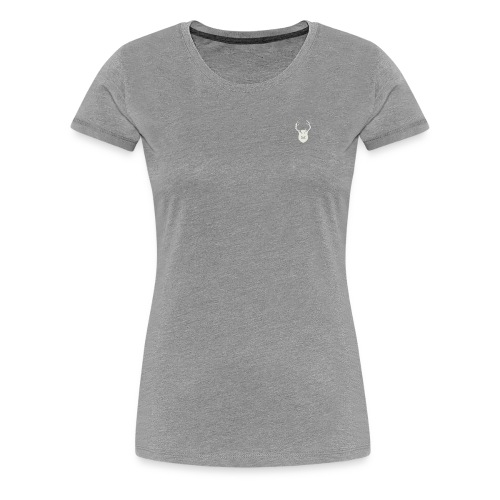 0218 mmch threadless shop stagshead cream - Women's Premium T-Shirt