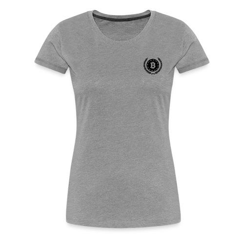 Bitcoin Money with Laurel Leaves - Women's Premium T-Shirt