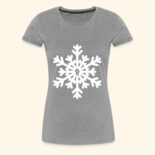 snowflake vector white - Women's Premium T-Shirt
