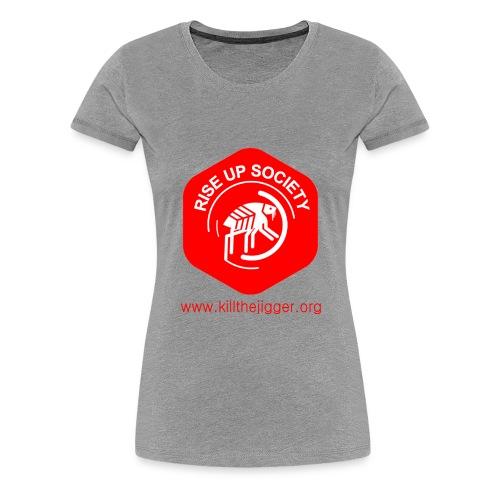 Rise Up Society Logo & Link - Women's Premium T-Shirt