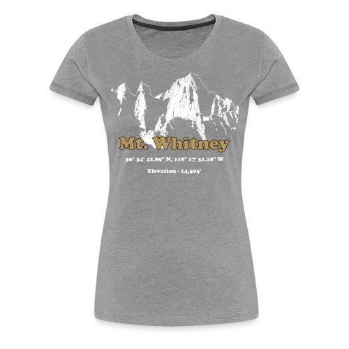 MT Whitney Gold - Women's Premium T-Shirt