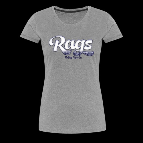 RAGSROLLINGLOGOBLUE - Women's Premium T-Shirt