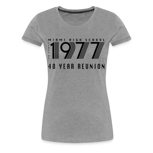 Miami 77 Black Logo - Women's Premium T-Shirt