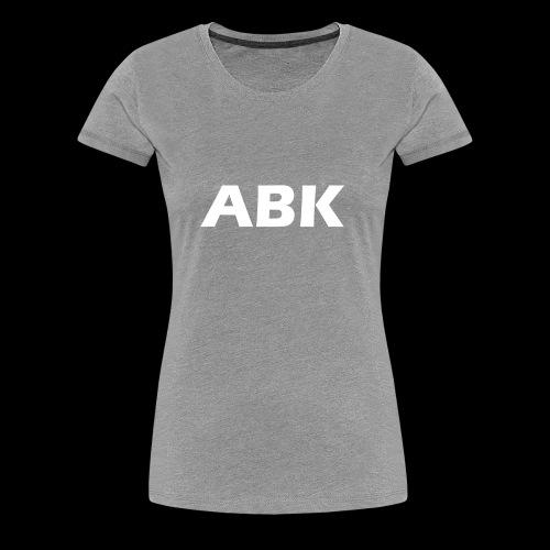 ABK White - Women's Premium T-Shirt