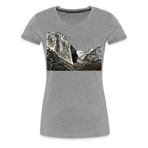 West face of El Capitan - Yosemite National Park - Women's Premium T-Shirt
