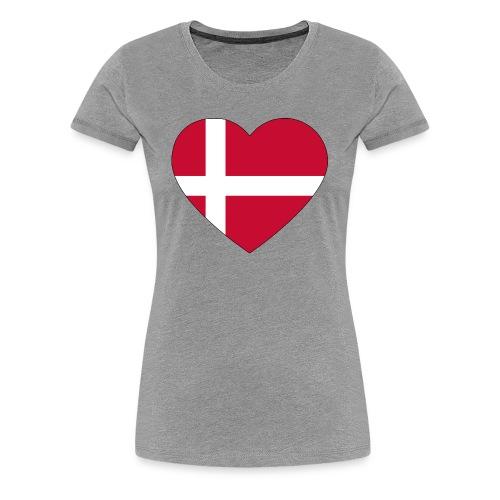 heart denmark flag worldchampionship 2018 - Women's Premium T-Shirt