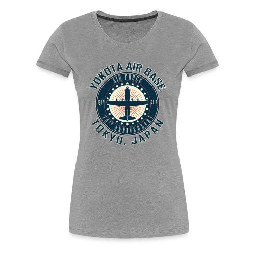 Yokota Air Base 70th Anniversary Design - Women's Premium T-Shirt