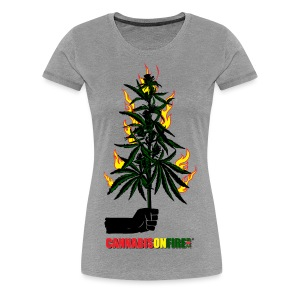 Cannabis On Fire T-shirts - Women's Premium T-Shirt