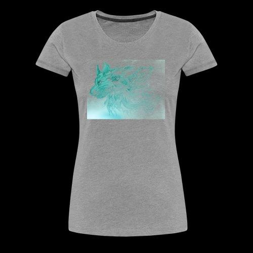 Tiffany Blue Wolf - Women's Premium T-Shirt