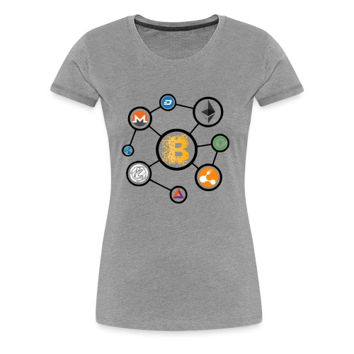 blockchain network - Women's Premium T-Shirt